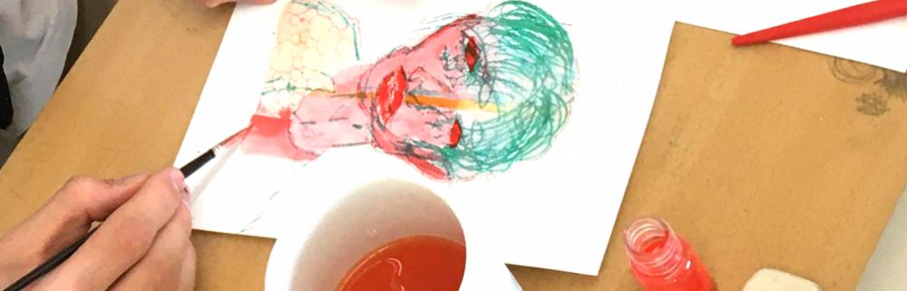 tegning med vandfarver