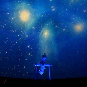 Stjernehimlen i planetariet. Foto: Erik Balle.