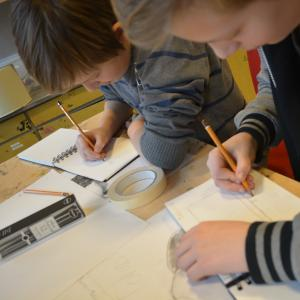 Tegning på skemaet