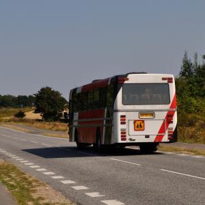Bus på en landevej