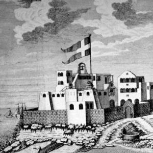 Fort Christiansborg på Guldkysten, hvor Danmark hentede sine slaver og sejlede dem til Dansk Vestindien